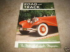 Road & Track magazine September 1951 Muntz Jet Mercedes 540-K Aston Martin