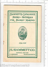 6150 J. L. Hammett 1926 basket making catalog Cambridge, MA reed cane Raphia