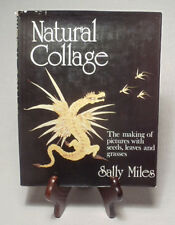 Seeds, Leaves and Grasses Collages by Sally Miles/Nice 1973 Hardback-Dust Jacket