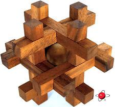 TAVOR - BIG Wood Puzzle Brain Teaser Wooden NEW Rompecabeza Noggin Busters