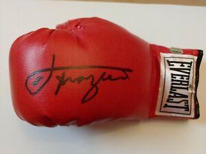 Joe Frazier Autographed Signed Everlast Boxing Glove W/ Mounted Memories COA