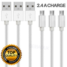 10Ft Micro USB Cable Fast Charge Data Cord Android Charger Lot For Samsung S7 S6