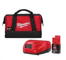 MILWAUKEE | M12NRG-201 | ENERGY PACK 12V | 1 Batteria 2.0Ah Li-ion + C12 C