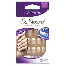 NAILENE SO Natural Everyday FRENCH Beige White-Tip 24 Glue-On Nails #71004