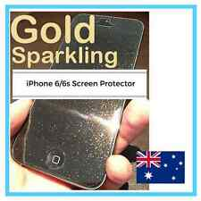 New Gold Sparkling Glitter Effect Screen Protector Cover Film For iPhone 6/6S