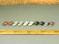 N Scale Accessories LOT of TEN (10) 1940s / 1950s ASSORTED CARS / STATION WAGONS