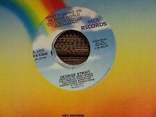 """GEORGE STRAIT What's Going On In Your World/Let's Get Down To It 7"""" 45 country"""