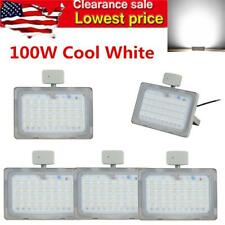 100W Led Floodlight Pir Motion Sensor Security Light Waterproof 110V Cool White