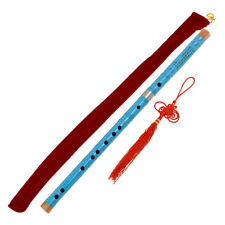 Bamboo Dizi Flute Pluggable F Key Traditional Chinese Musical Instrument Blue