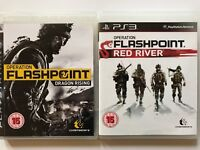 Operation Flashpoint Dragon Rising+Operation Flashpoint Red River-PS3 Game (584)