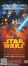 Disney Star Wars Weekends Final Week Flyer 2015 - Peter Mayhew & Ray Park