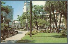Jacksonville Fl Florida  Hemming Park downtown ~ c1960 unused postcard