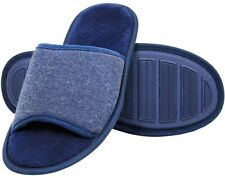 Gold Toe Men's Open- Toe Slipper (Navy-Large size 10-11)