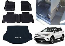 Genuine OEM Front, Rear, Cargo All Weather Floor Mats For 2013-2018 Toyota Rav-4