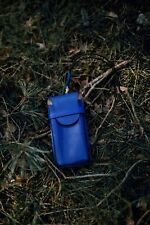 Blue Glasses Case, Leather Glasses Case, Italian Leather Case, Glasses Holder