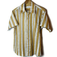 Donlin Tapered 'n Tails Men's Size 17-Xl-17.5 Striped Multicolor Shirt Vintage
