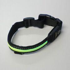 LED Chiens Collier Lumineux LED Collier avec Couleur Bande Noir Vert 35-41 CM