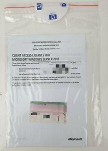 NEW Windows Server 2012 Client Access Licenses 5 Clients per License 701915-A21