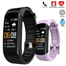 Smart Watch Fitness Tracker Fit Bluetooth Sport Step Calorie iPhone Android band