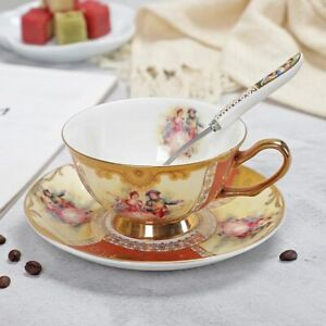 Coffee Cup And Saucer Set Advanced Royal Classical Afternoon Tea Cups Ceramic