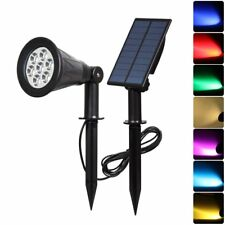 Waterproof Outdoor Solar Power 7LED Spotlight Security Light Garden Path Light