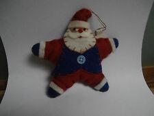 Babbo Natale morbido fatto a mano artigianale decorazione palla pallina albero