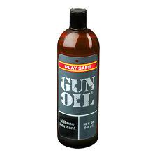 Gun Oil Silicone Based Personal Lubricant Massage Lube Body Glide 32 oz Bottle
