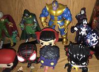 Marvel Legends, Funko Pop, & Select Action Figure Lot! Thanos, Avengers, MORE