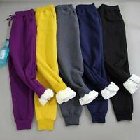 Ladies Fleece Joggers Harem Trousers Pants Sweatpants Warm Winter Casual Sports