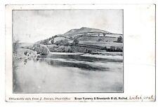 Meifod Welshpool RIVER VYRNWY BRONIARTH HALL J. DAVIES POST OFFICE POSTCARD 1903