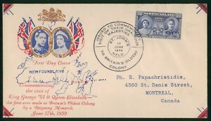 Mayfairstamps Newfoundland 1939 Royal Visit Commemorative First Day Cover wwr842