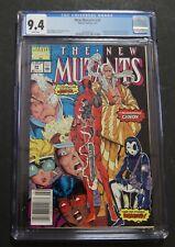 The New Mutants #98 NEWSSTAND 1st Deadpool. CGC 9.4 NM Marvel Comics