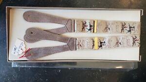 RARE Trafalgar Limited Edition Suspenders, silk suede braces