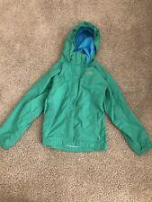 North Face Green Girl's Medium Green Zip Up Raincoat. JL9