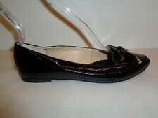 Michael Kors Size 6 M NANCY Black Patent Leather Loafers Flats New Womens Shoes