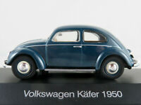 DeAGOSTINI #01 VW Brezel-Käfer (1950) in blau 1:43 NEU/PC-Vitrine