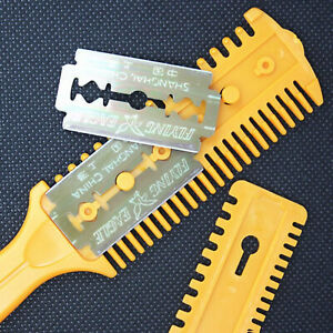 Barber Scissor DIY Hair Style Cut Razor Comb Blade Hairdressing Thinning Trimmer