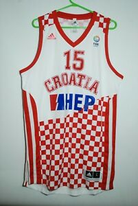 CROATIA NATIONAL TEAM BASKETBALL JERSEY MATCH WORN FIBA EUROPE ADIDAS SIZE L
