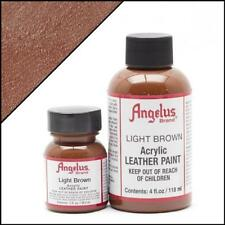 Angelus Acrylic Leather Paint Light Brown 1 oz Bottle Colour for Shoes/Sneakers