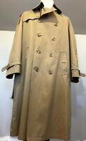 Vintage Allen Lolly Men's TrenchCoat, 100% Wool Lining  46R Made in USA