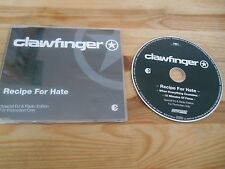 CD Metal Clawfinger - Receipe For Hate (3 Song) DJ Promo GUN SUPERSONIC sc