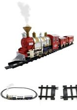 11FT Train Set Christmas Electric Toy Trains Classic Holiday Real Smoke Sound
