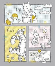 Disney Winnie the Pooh Nursery 65156 Eat Play 100% Cotton fabric by the panel