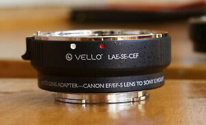 Vello Canon EF EFS To Sony E mount Auto Lens Adaptor As New