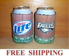 MILLER LITE 2 NFL EAGLES BEER CAN COOLERS KOOZIE COOLIE HUGGIE COOZIE NEW