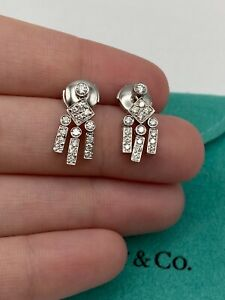 Tiffany & Co Platinum Earrings with Diamonds