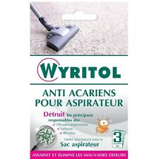 GRANULES ANTI ACARIENS POUR ASPIRATEUR WYRITOL assainit élimine mauvaises odeurs