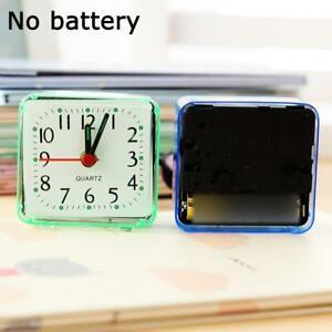 Modern Mini Quartz Clock Travel Alarm Clock Bedroom Clock AU Table Home E2N7