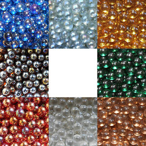 "10 x 14mm (9/16"" LUSTER & MATTE CLEARIE MARBLES - VARIOUS COLOURS - NEW"