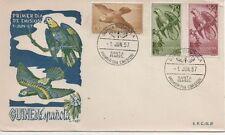 Echte Briefmarken aus Europa mit Ersttagsbrief für Vögel
